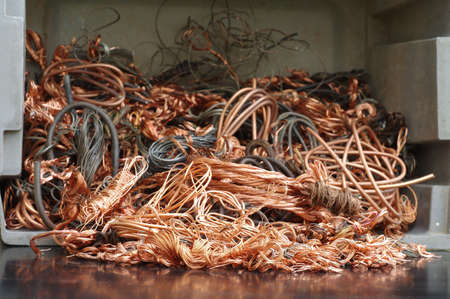 copper wires recycling photo