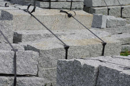 collateral: curbs stone 3 Stock Photo