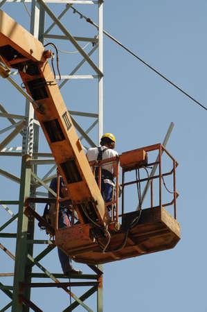 linemen: repair pylons high voltage
