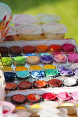paints: watercolor paints