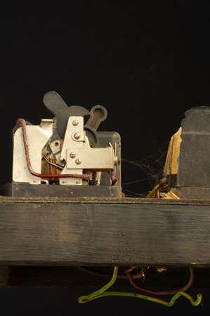 switcher: old circuit breaker panel 4 Stock Photo
