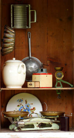 vintage kitchen equipment  photo