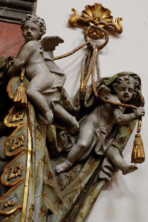 cherubs: cherubs baroque valances Stock Photo