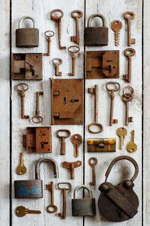 old keys and padlocks photo