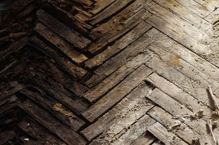 splintered: wooden parquet floor rot
