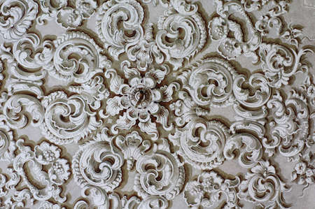 Baroque ornament detail ceiling Stock Photo