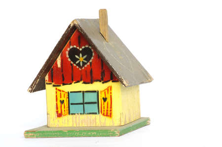 old wooden playhouse toy Stock Photo