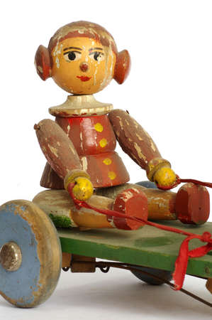 Old timber toy doll