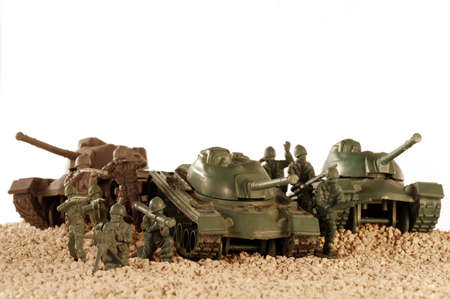 green military miniature: toy battle tanks
