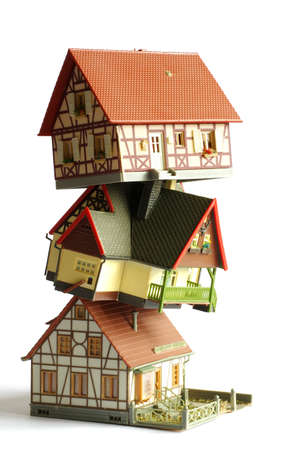 houses miniature model toy