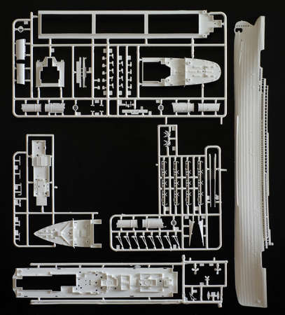 Kit assembling plastic model backgrounds