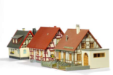 dwelling: houses miniature model plastic Stock Photo
