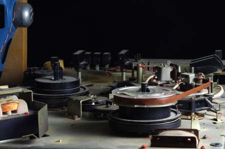 grabadora: carrete grabadora vendimia
