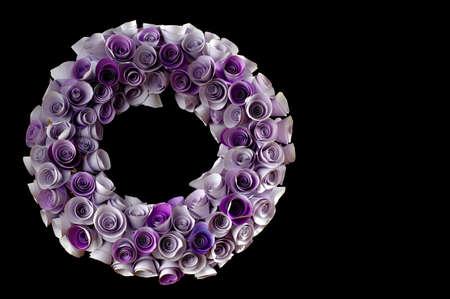 black wreath: Floral wreath black backgrounds