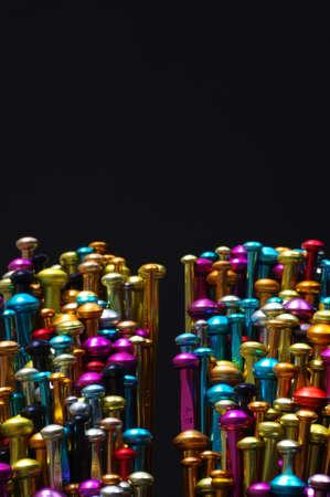 anodized aluminium: knitting needle abstract Stock Photo