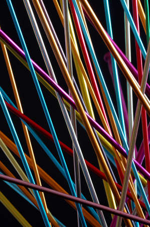 anodized: knitting needle abstract backgrounds 6