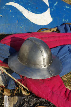 weapons: medieval weapons shield and helmet