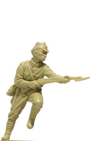 plastic soldier: soldiers attack plastic toy