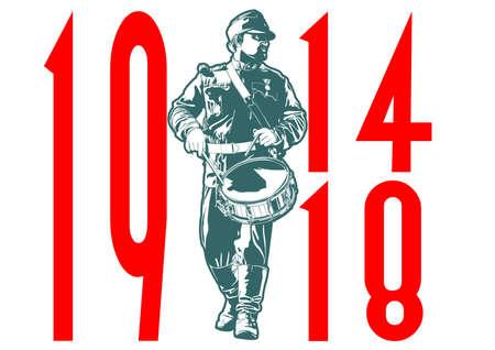 drummer: drummer military Illustration