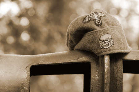 wehrmacht: Military caps Wehrmacht Stock Photo