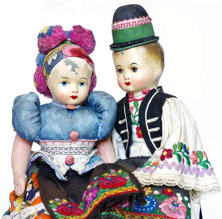 souvenir traditional: dolls traditional costume souvenir vintage Stock Photo