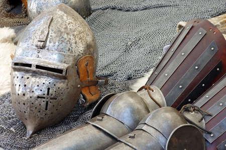 medieval: medieval armor and helmet