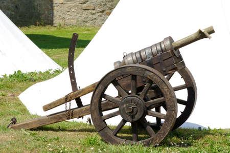 armament: replica cannon gun historical Stock Photo
