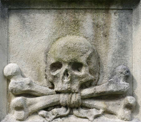 relief: skull and crossbones crossed