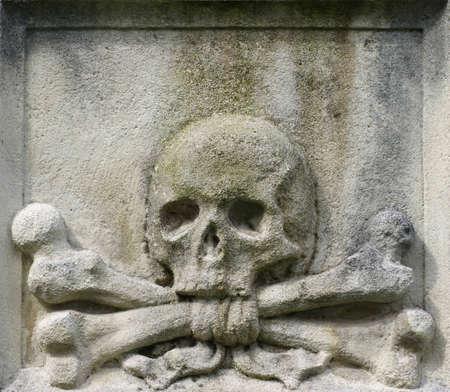 crossbones: skull and crossbones crossed