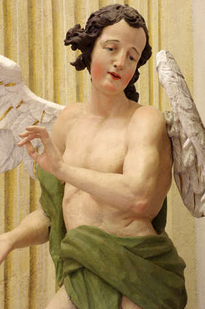 iconography: Baroque angel sculpture