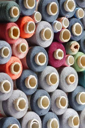 group of objects: spools of thread group objects