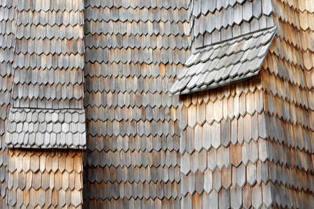 shingle: old wooden shingle Stock Photo