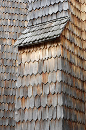 shingle: wooden shingle Stock Photo
