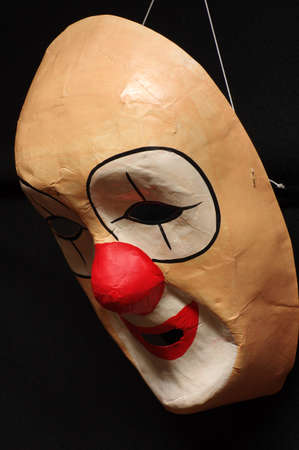 clown's nose: paper clown mask Stock Photo