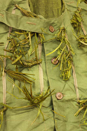 simulate: camouflage costume detail Stock Photo