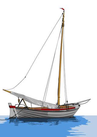 セーリング ボート  イラスト・ベクター素材