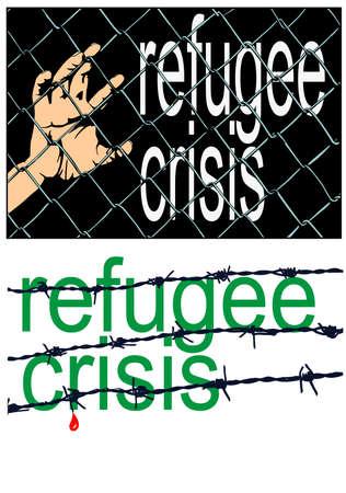 refugee crisis sign