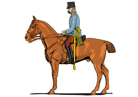 El soldado Gran Guerra a caballo