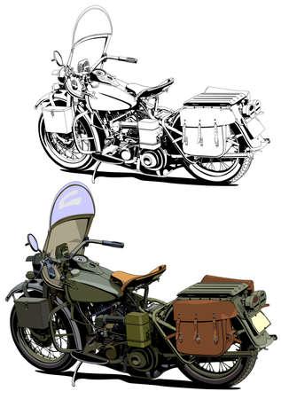 motorcycle vintage illustration