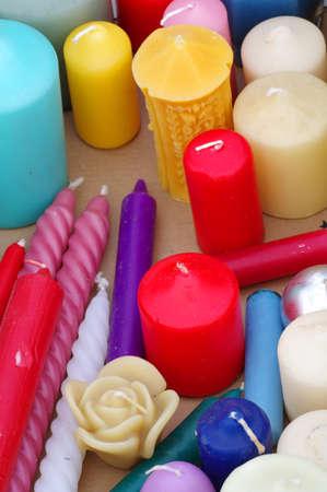 dissimilar: various candles