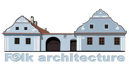 gable: folk house illustration