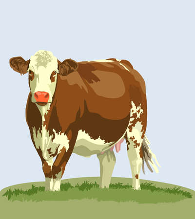 milky: cow farm animals Illustration