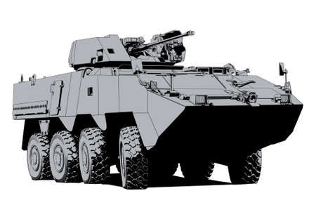 Armored personnel carrier 矢量图像
