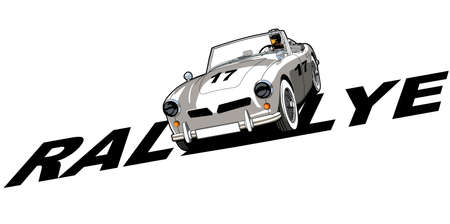 Classic sports car Illustration