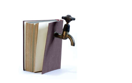 water tap and book the installers manual objects isolated