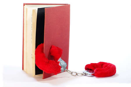 erotic novel handcuff and book