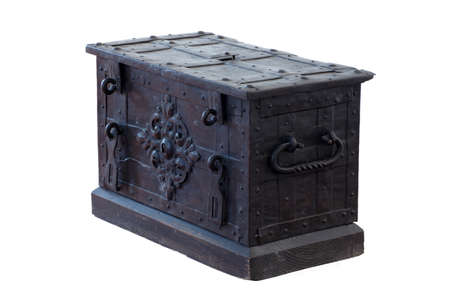 forged chest antique objects isolated