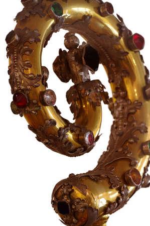 Crosier religion detail objects isolated Reklamní fotografie