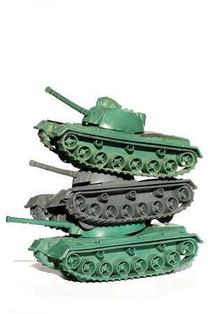 tanks toy objects isolated military theme Reklamní fotografie