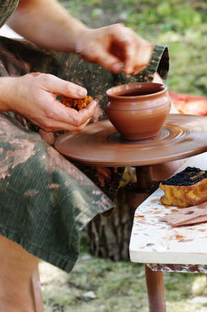 Potter wheel handicraft